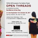 Topaz Arts presents Open Threads