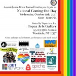 National Coming Out Day at Topaz Arts